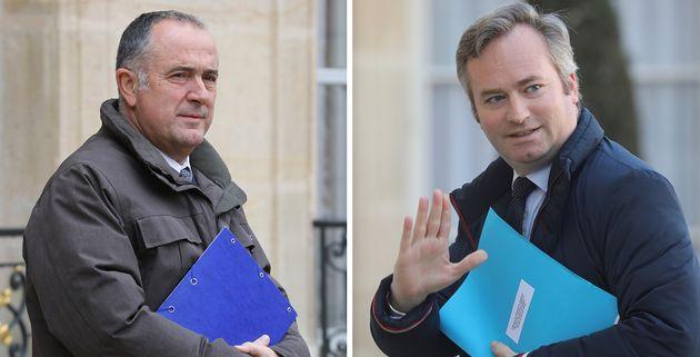 Didier Guillaume, ministre de l'Agriculture et Jean-Baptiste Lemoyne, secrétaire d'Etat aux Affaires...