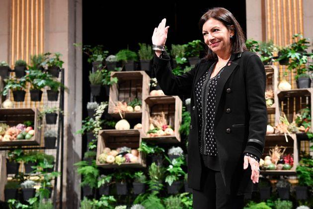 Anne Hidalgo, maire de Paris, lors de ses vœux, le 10 janvier