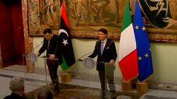 Sarraj da Conte a Palazzo Chigi. Il premier: