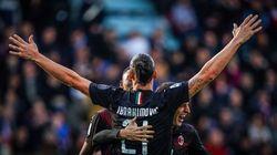 Zlatan inscrit son premier but avec le Milan