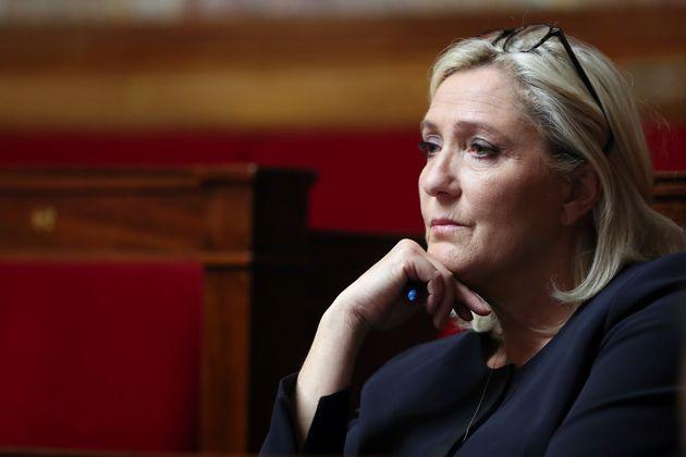 Marine Le Pen -photographiée ici à l'Assemblée nationale en octobre 2019- estime...