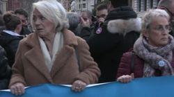 Dos víctimas del terrorismo encabezan la marcha en Bilbao contra la dispersión de los presos de