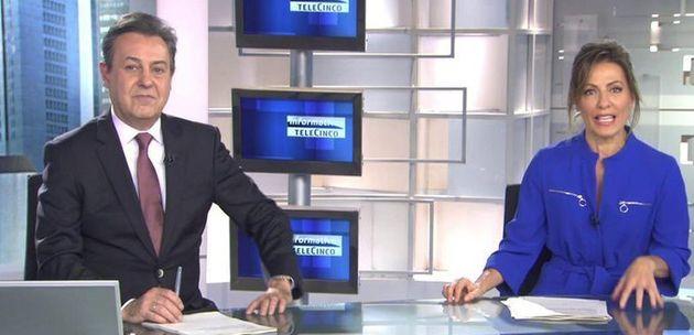 José Ribagorda y Ángeles Blanco, presentadores de 'Informativos Fin de Semana' de