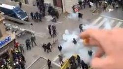 La police lyonnaise réagit après un tir accidentel de lacrymogène sur un