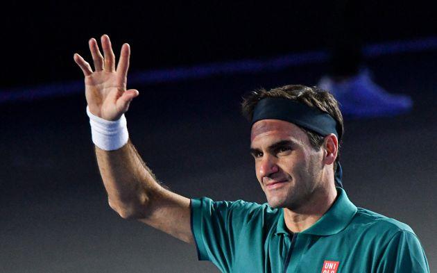 Roger Federer, ici lors d'un match à Mexico en novembre 2019, a remercié les militants...