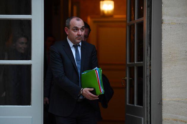 Laurent Berger, secrétaire général de la CFDT, en sortant de Matignon le 10 janvier