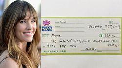 Il figlio dà a Jennifer Garner un assegno da 150 euro per