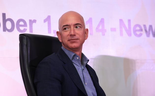 Amazon.com founder and CEO Jeff Bezos during an event organised in New Delhi on October 1,