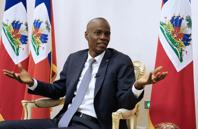 Presidente do Haiti,Jovenel Moise, em entrevista à Reuters no Palácio Nacional em...