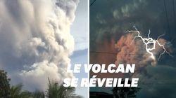 Ce volcan aux Philippines se réveille en crachant une fumée remplie