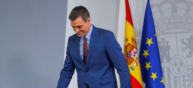 Pedro Sánchez, al término de su