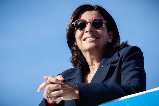 Anne Hidalgo, maire de Paris, lors de la course