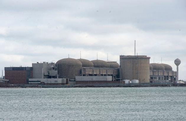 La centrale nucléaire de Pickering, en Ontario, le dimanche 12 janvier