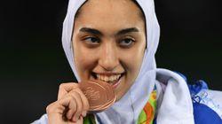 Kimia Alizadeh, seule femme médaillée olympique d'Iran, a quitté son