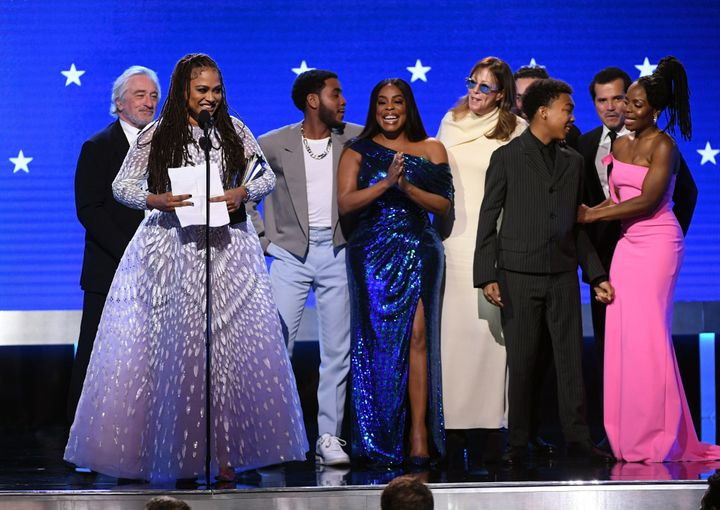Ava DuVernay and fellow cast and crew accept the Best Limited Series award for 'When They See Us' onstage during the 25th Annual Critics' Choice Awards.