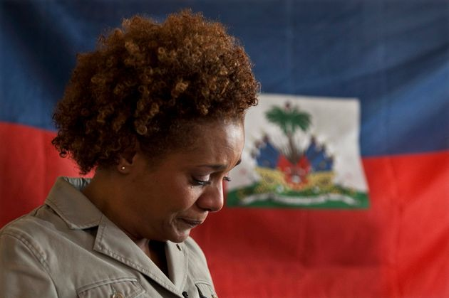 Former Governor General Michaelle Jean fought back tears as she addressed a women's group on Mar. 9,...