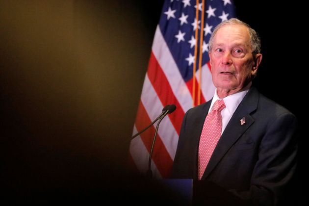 Democratic U.S. presidential candidate Michael Bloomberg delivers remarks where he was honored by the...