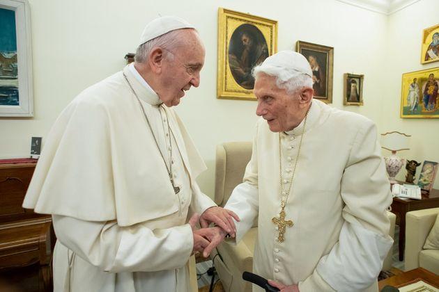 Le pape François et Benoit