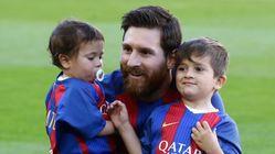 Thiago suit les traces de son père Leo Messi à