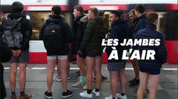 La journée sans pantalon a permis aux usagers d'être (très) à l'aise dans le