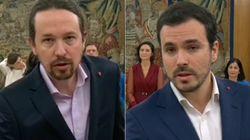 Lo que Iglesias y Garzón han llevado al prometer su cargo tiene un claro