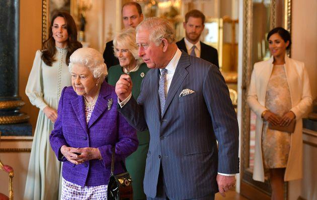 La familia real británica, en el 50º aniversario de la investidura del Príncip de...