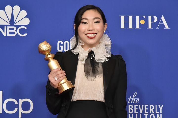 "Awkwafina won a Golden Globe for her role in ""The Farewell."""