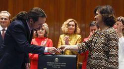 Iglesias asume la Vicepresidencia citando a Machado y prometiendo