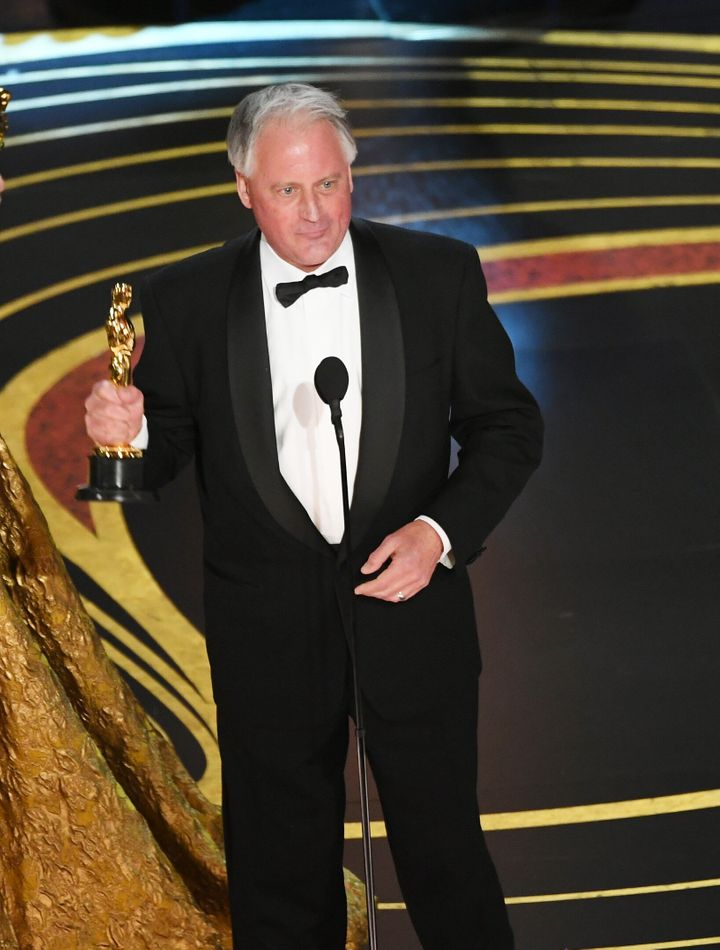 Canadian sound engineer Paul Massey accepts the Sound Mixing award for 'Bohemian Rhapsody' during the 91st Annual Academy Awards.