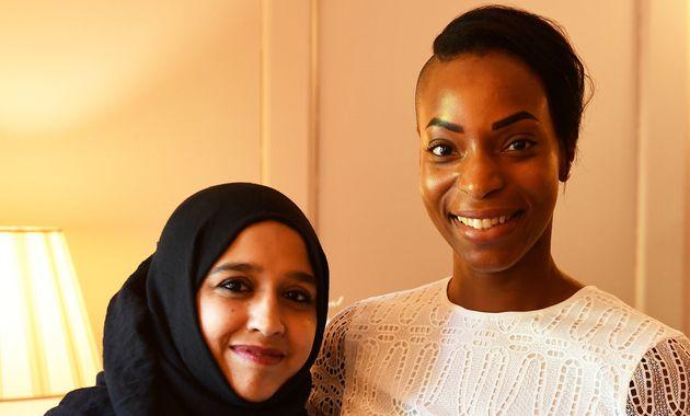 Natalie Campbell (à droite), ici au Palais de Kensington avecZahira Ghaswala, responsable...