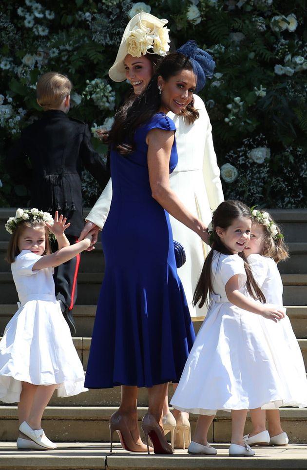Jessica Mulroney le 19 mai 2018 lors du mariage du prince Harry et Meghan Markle à Windsor, aux...