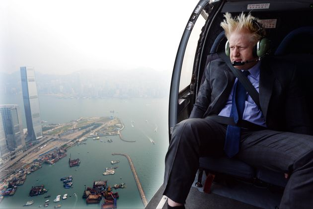 One of Parsons' images of Boris Johnson, during a trip to China as London