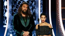 Zoë Kravitz Explains Why Stepdad Jason Momoa Rocked A Tank Top At Golden