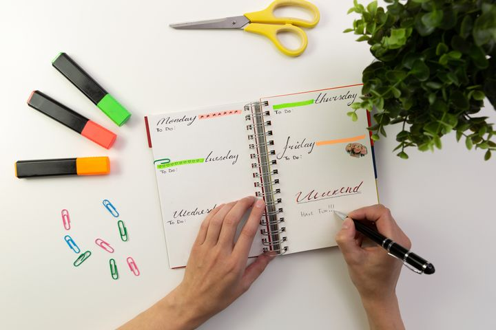 A bullet journal can organize all your lists, goals, and calendars in one place.