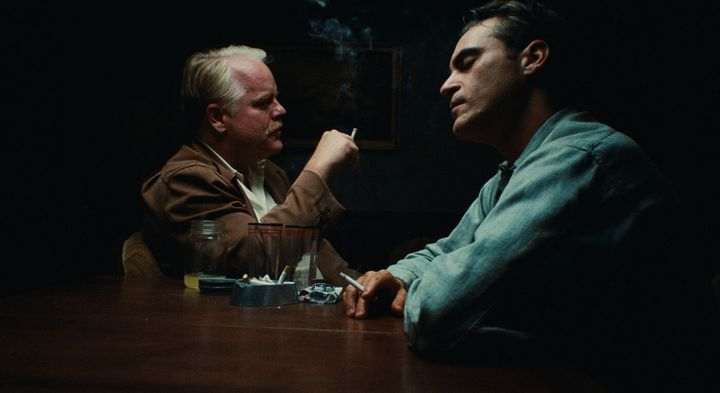 "Philip Seymour Hoffman and Joaquin Phoenix in ""The Master."""