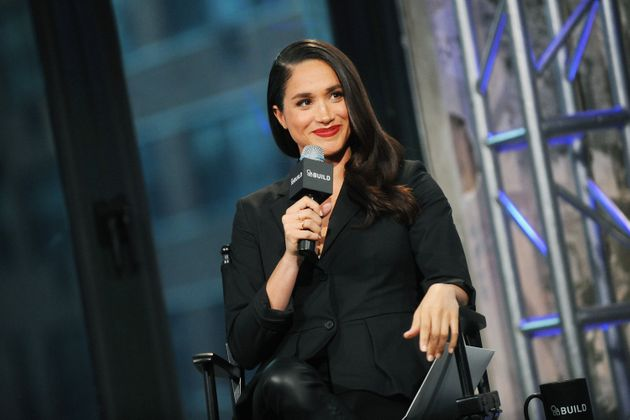 Meghan Markle onstage at AOL Build on March 17,