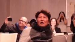 '기생충' 아카데미 작품상 후보 발표 당시 송강호의