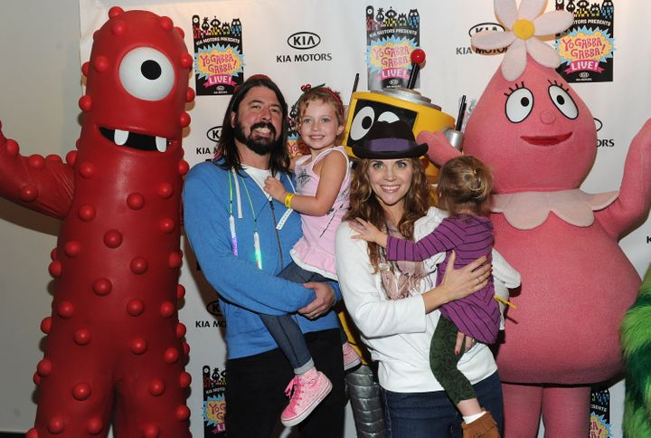 "Grohl and his family attend ""Yo Gabba Gabba! Live! There's A Party In My City"" at Nokia L.A. Live on Nov. 27, 2010, in Los Angeles, California."