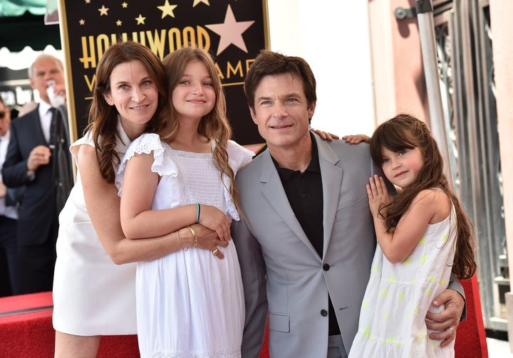 Amanda Anka, Francesca Bateman, Jason Bateman and Maple Bateman attend the ceremony honoring him with a star on the Hollywood Walk of Fame on July 26, 2017, in Hollywood, California.