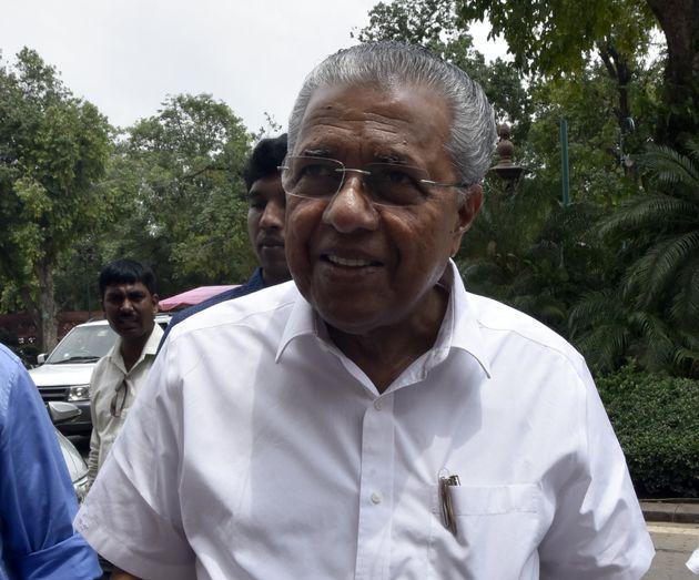 Kerala Chief Minister Pinarayi Vijayan at Parliament House on July 30, 2019 in New
