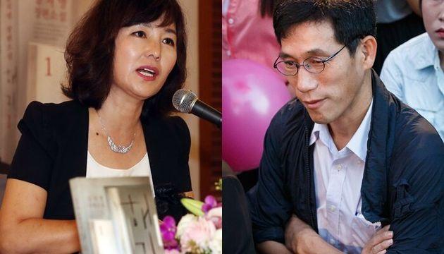 공지영 작가(왼쪽), 진중권 전