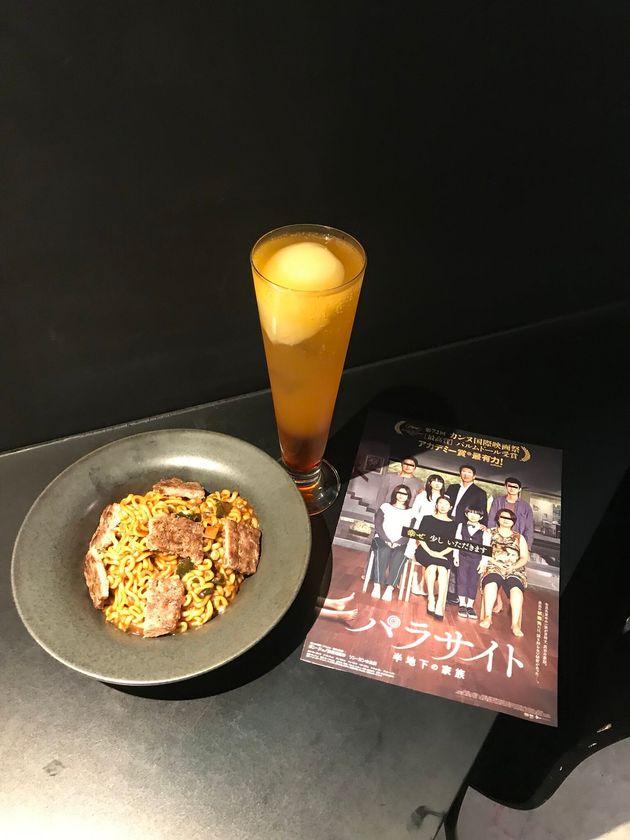 일본 한 카페의 영화 '기생충' 콜라보레이션