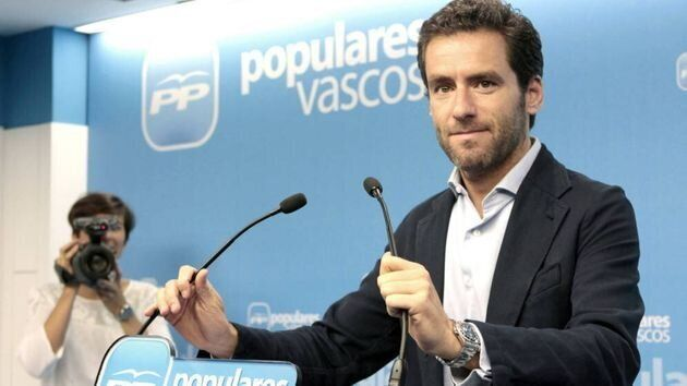 El presidente del PP de Gipuzkoa y portavoz en el Parlamento Vasco, Borja