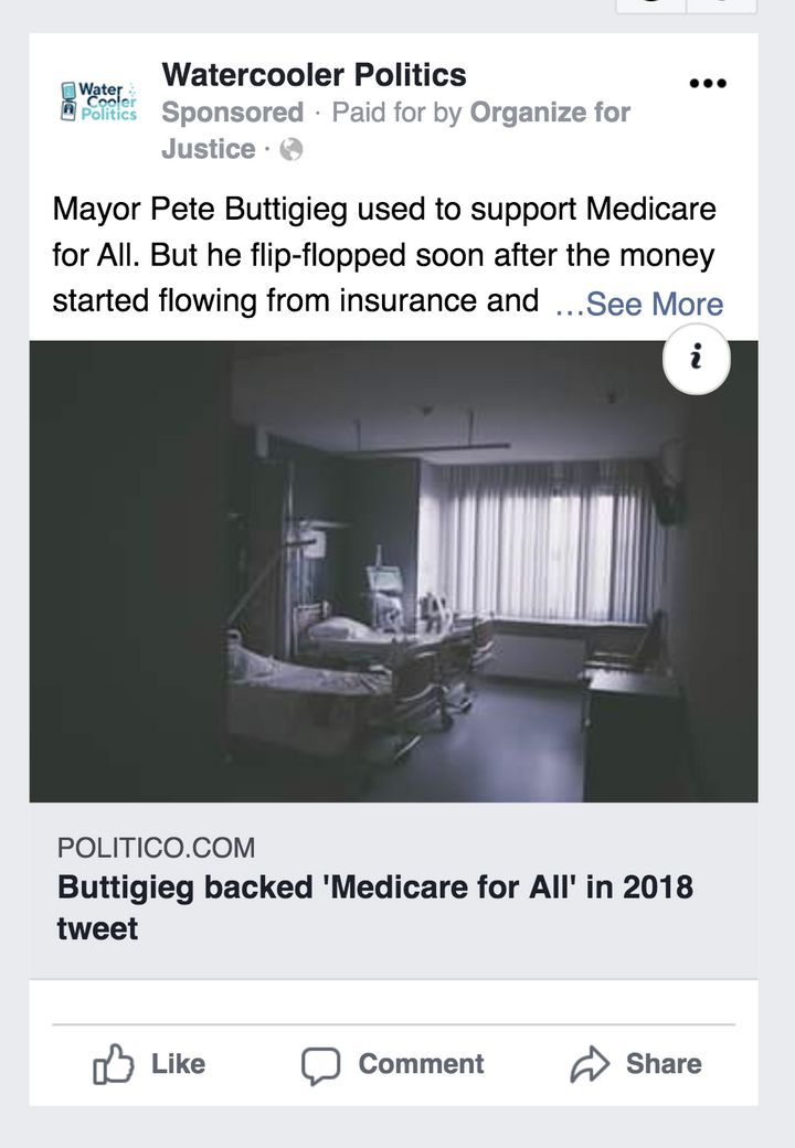 "Organize for Justice targets Buttigieg's shifting stance on ""Medicare for All"" in its new ad campaign."
