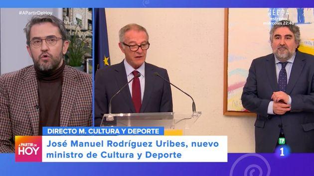 Máximo Huerta en 'A partir de hoy' el 13 de enero de