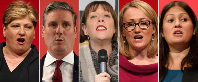 Emily Thornberry, Keir Starmer, Jess Phillips, Rebecca Long-Bailey y Lisa Nandy, los cinco candidatos