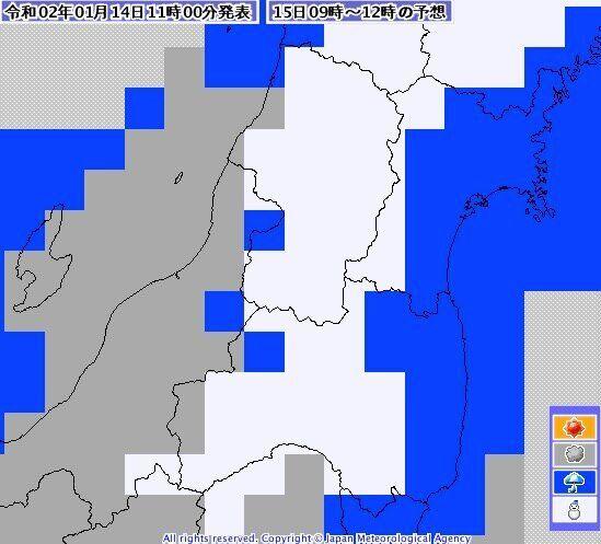 東北地方では、午前中に雪になる見込みだ