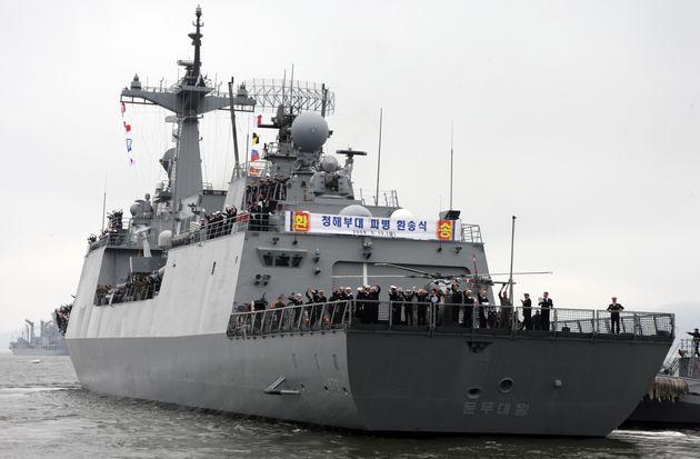 2009년 3월 청해부대 첫 파병을 위한 출항식
