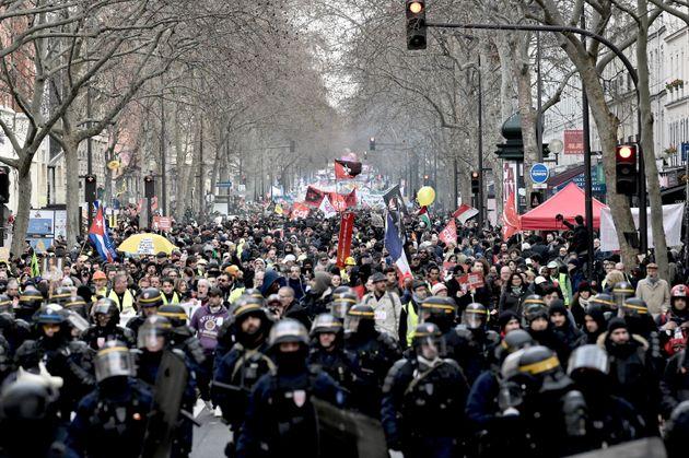 Manifestation contre la réforme des