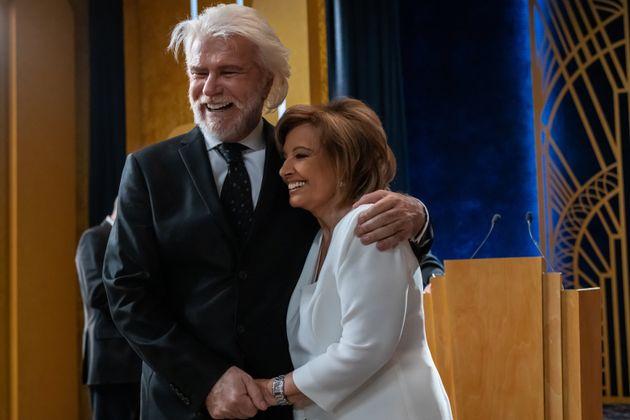 Bigote Arrocet y María Teresa Campos, en 'El cielo puede